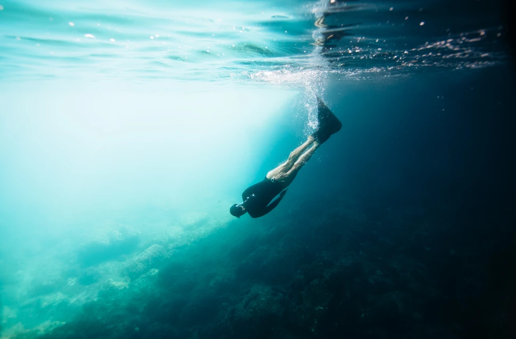 Freediver Johanna Nordblad, photo by Elina Manninen